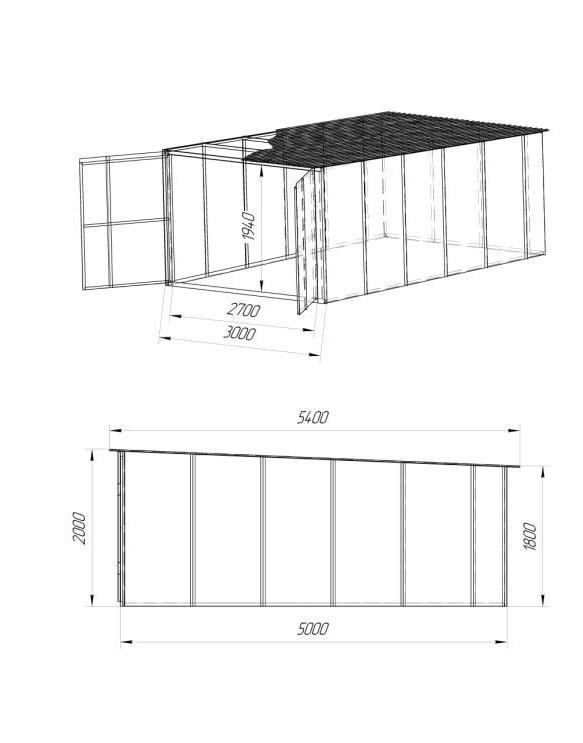 крыша гаража из профнастила своими руками чертежи