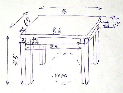 детский столик из дерева своими руками чертежи